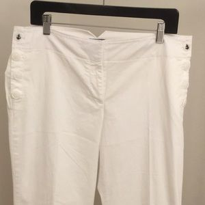 NWOT Loft flare cotton pants sailor buttons